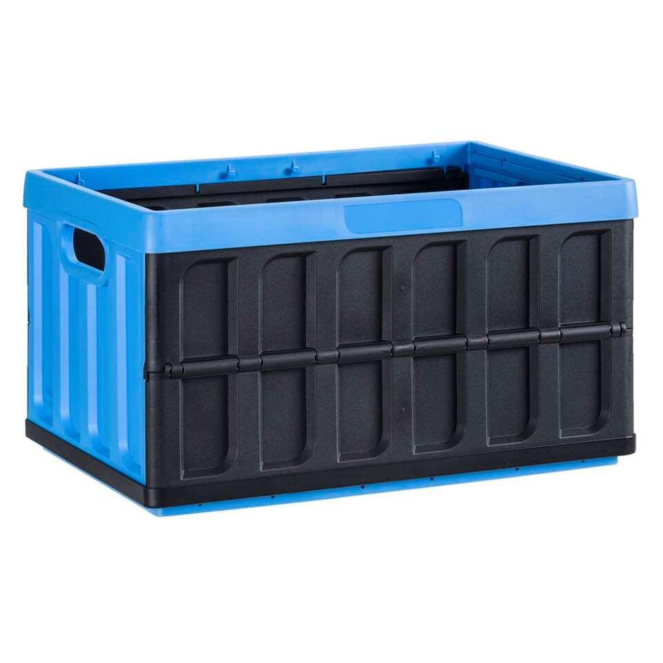 Vouwkrat Cargo - blauw/zwart - 28,5x54x36 cm