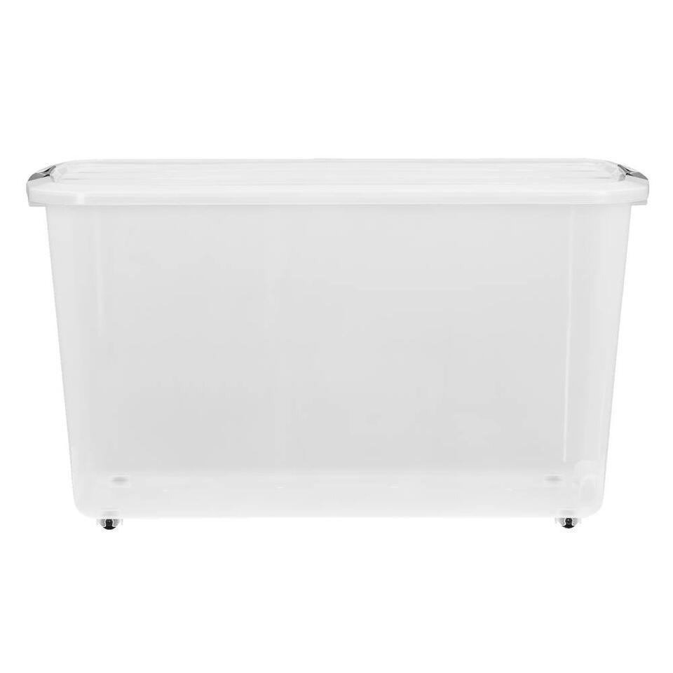 Opbergbox topbox 60 liter is een transparante box geschikt om enorm veel spullen in op te ruimen. Deze handige opbergbox is gemaakt van plastic en is transparant van kleur. Zo kan je precies zien wat je waar hebt opgeborgen.