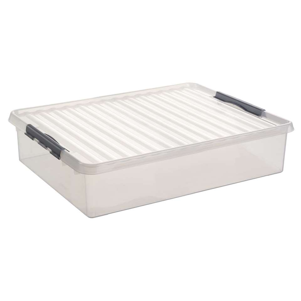 Q-line box 60 liter transparant 80x50x18 cm Leen Bakker