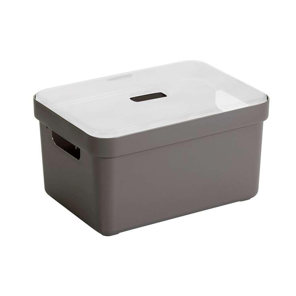 Sigma home box 13 liter - taupe - 35,2x25,3x18,3 cm
