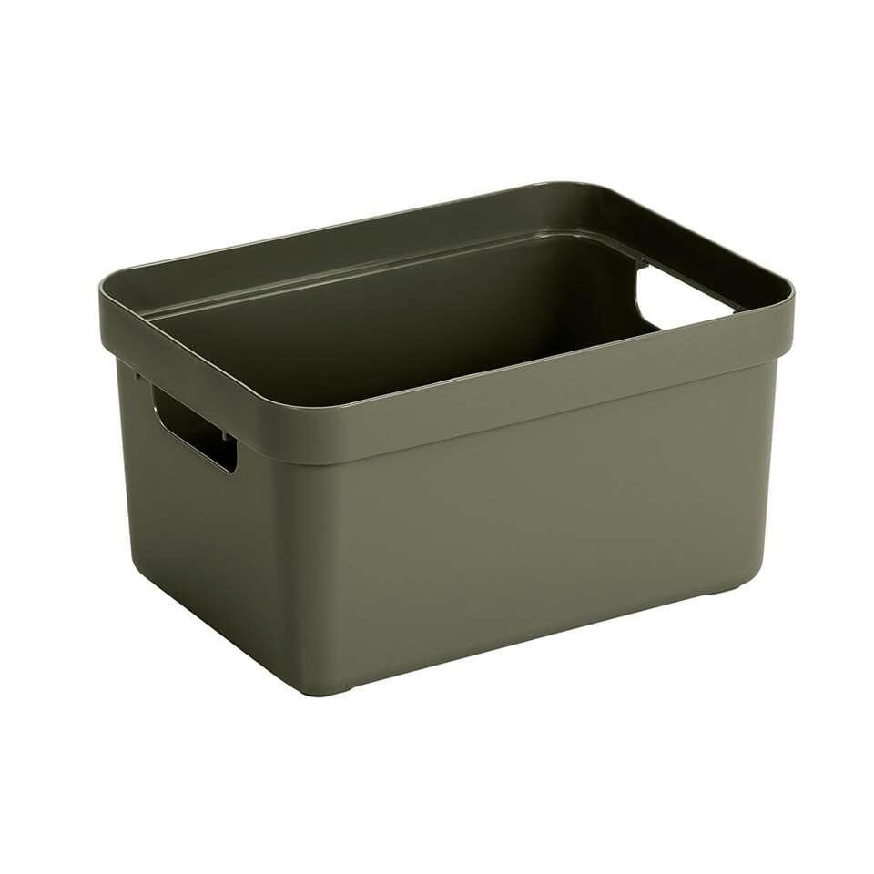 Sigma home box 13 liter in de kleur donkergroen is een box die gezien mag worden. De box is van Sunware en door het moderne design en de luxe uitstraling van deze boxen kun je deze ook prima in je woonkamer of slaapkamer plaatsen.