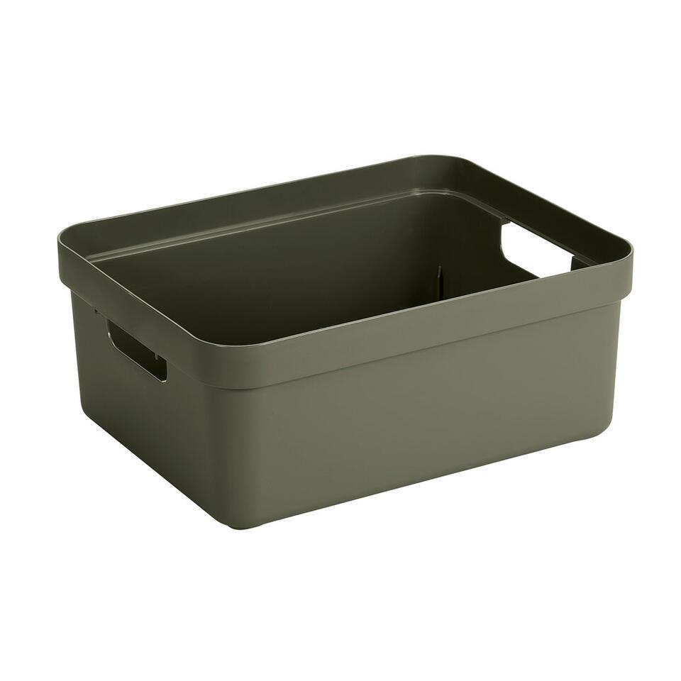 Sigma home box 24 liter in de kleur donkergroen is een box die gezien mag worden. De box is van Sunware en door het moderne design en de luxe uitstraling van deze boxen kun je deze ook prima in je woonkamer of slaapkamer plaatsen.