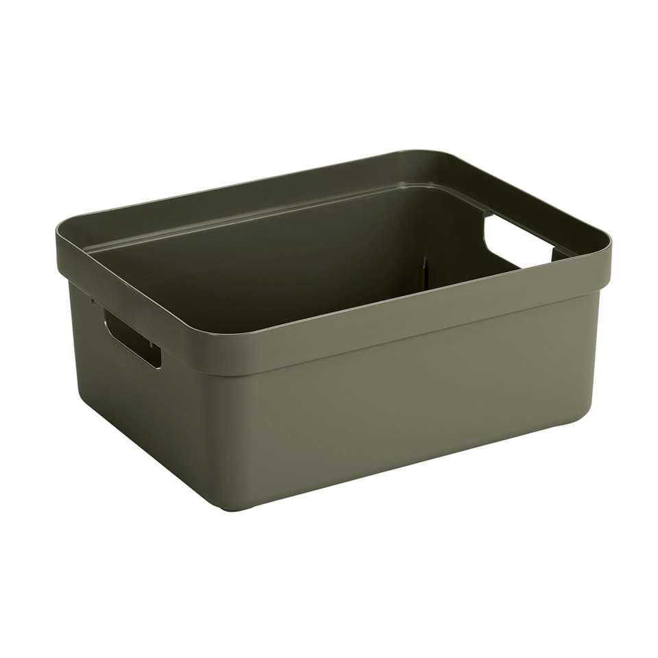 Sigma home box 24 liter - donkergroen - 45.3x35.4x18.3 cm