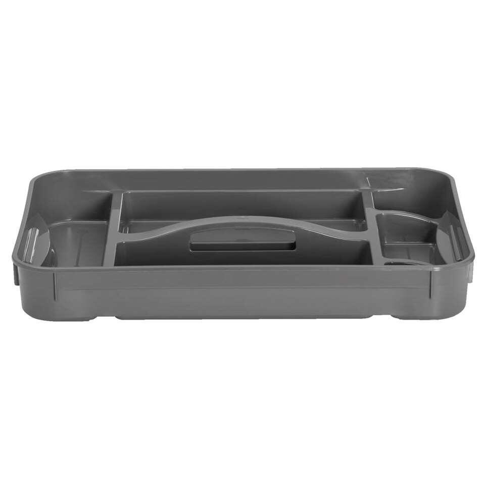 Kis tray opbergbox M-XL – grijs – 7×35,5×52 cm – Leen Bakker
