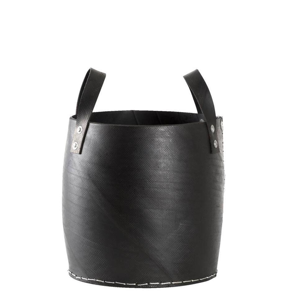 Mand Ruben - zwart - 30xØ30 cm - Leen Bakker