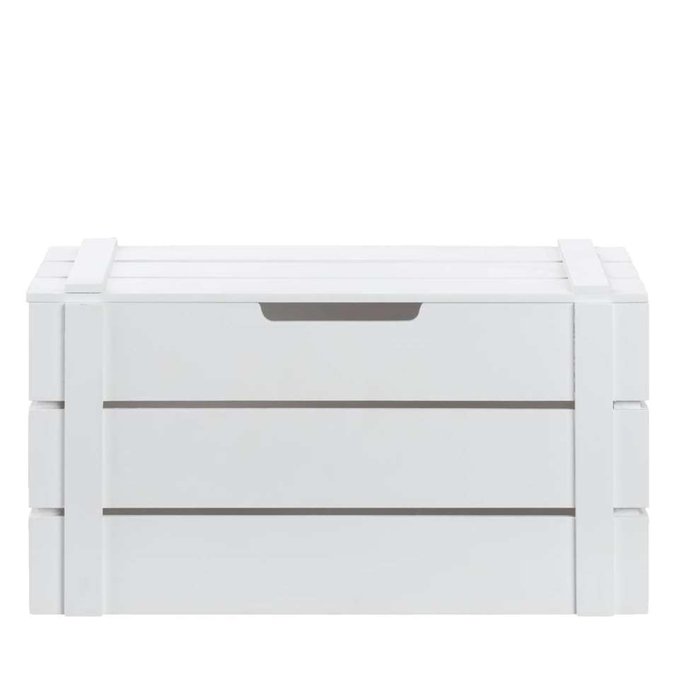 Kist Raaf - wit - 42x24x23 cm - Leen Bakker