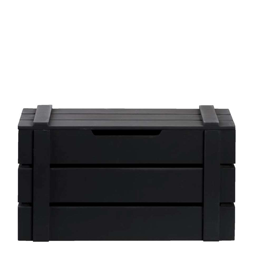 Kist Raaf – zwart – 19x34x17 cm – Leen Bakker