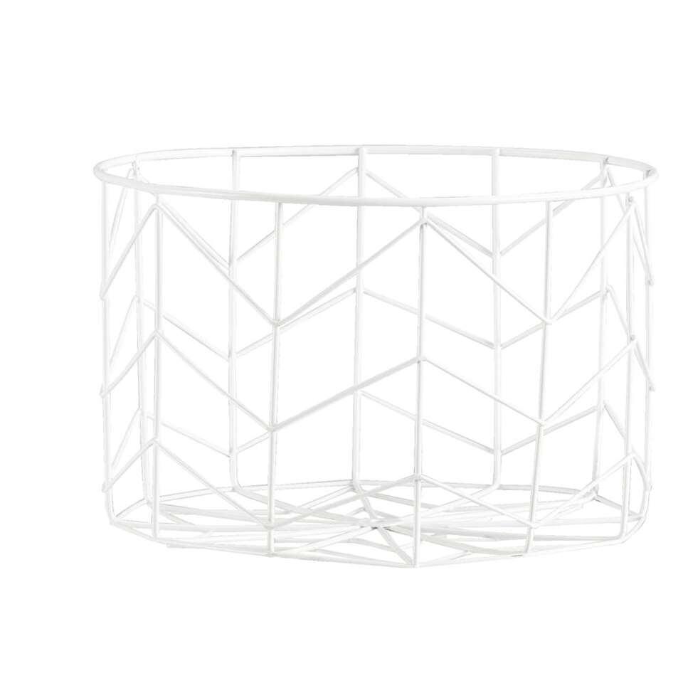 Mand Siena - wit - 16xØ25 cm - Leen Bakker