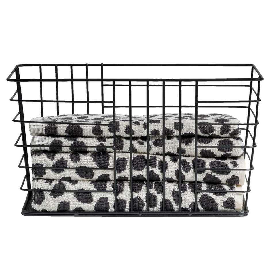 Opbergmand Riga - zwart - 30x16,5x20 cm