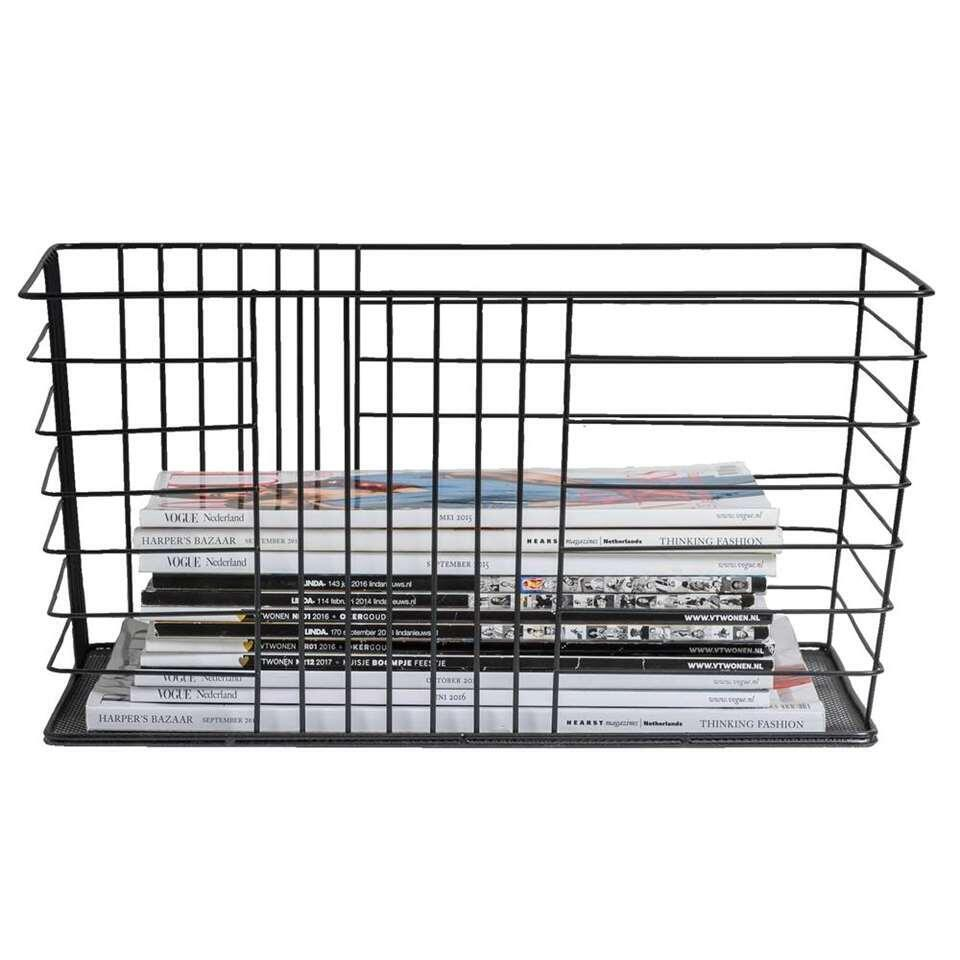 Opbergmand Riga - zwart - 40x20,5x30 cm