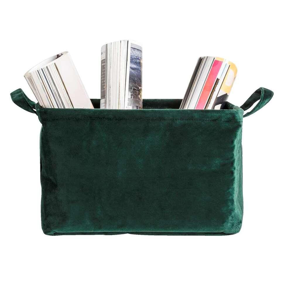 Opbergmand Mariska - groen - 20x32x25 cm