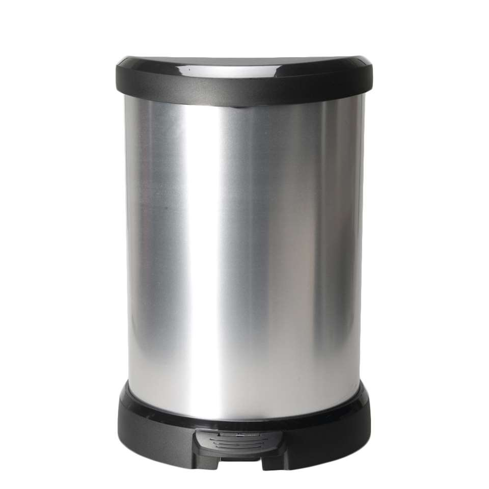 Curver pedaalemmer Decobin - zilverkleur - 20l - Leen Bakker