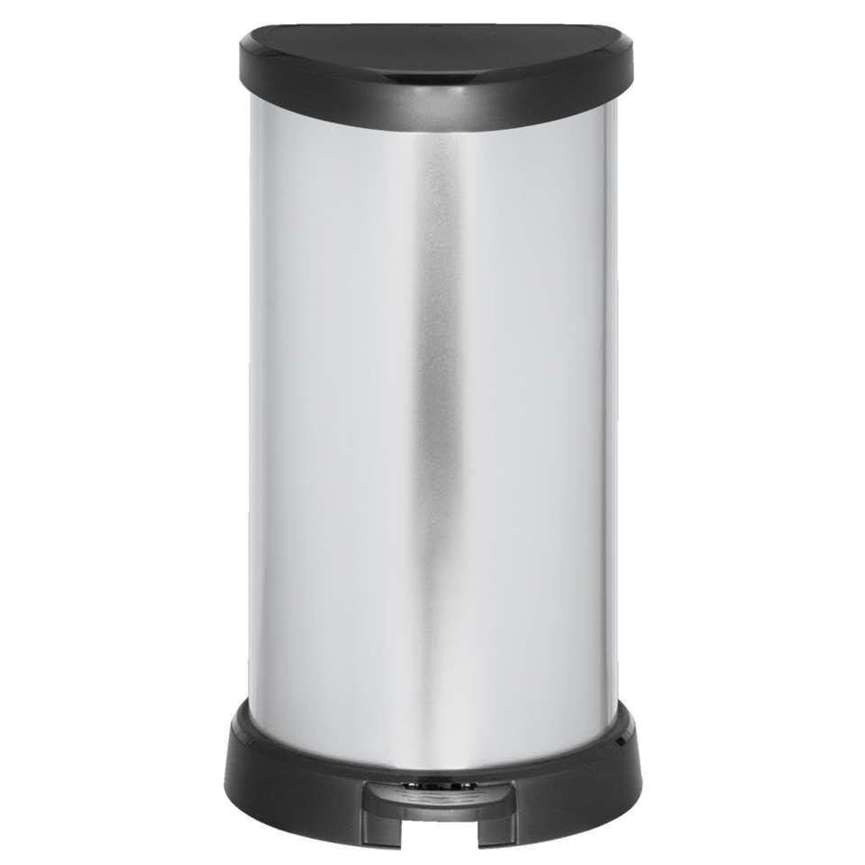 Curver pedaalemmer Decobin - zilverkleur - 40l - Leen Bakker