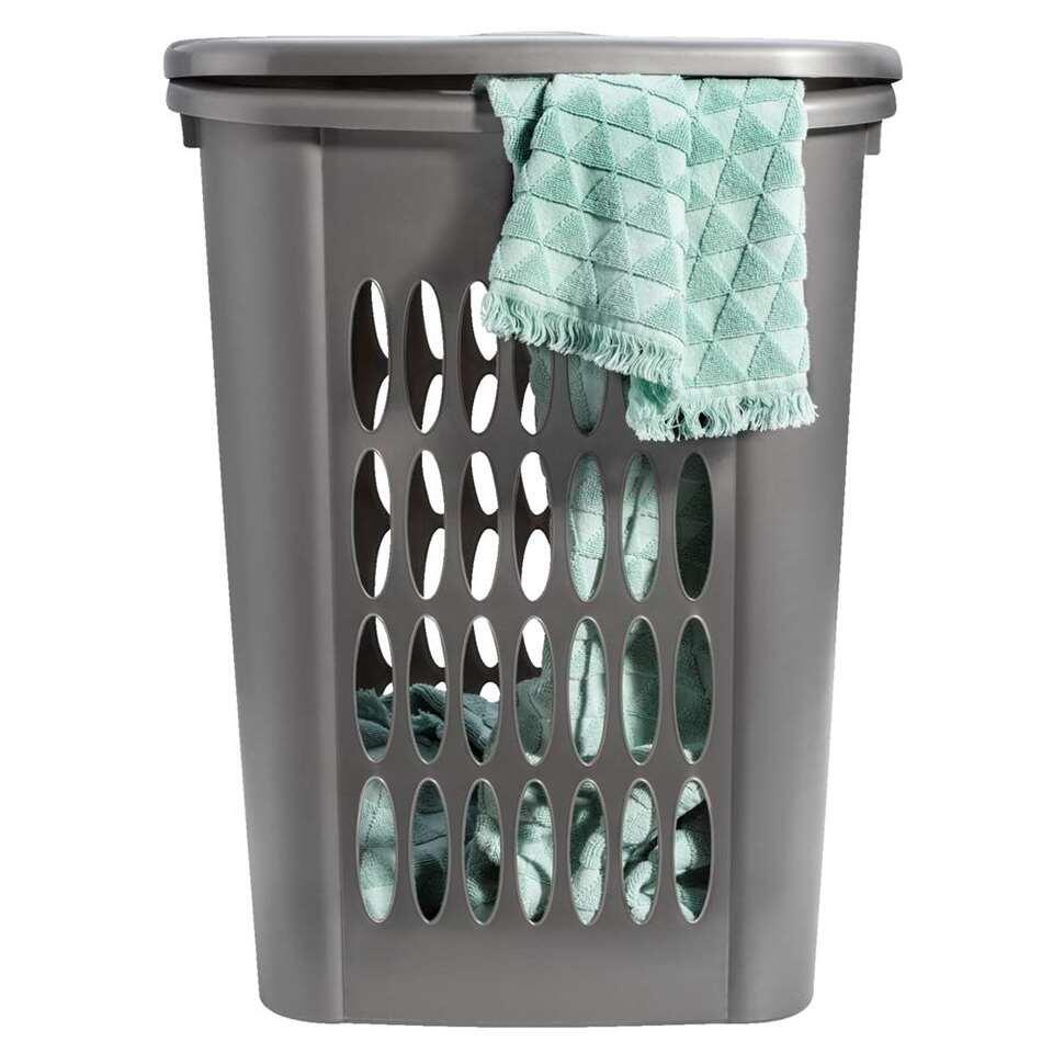 Wasmand Carolien - grijs - 58,5x45x33 cm