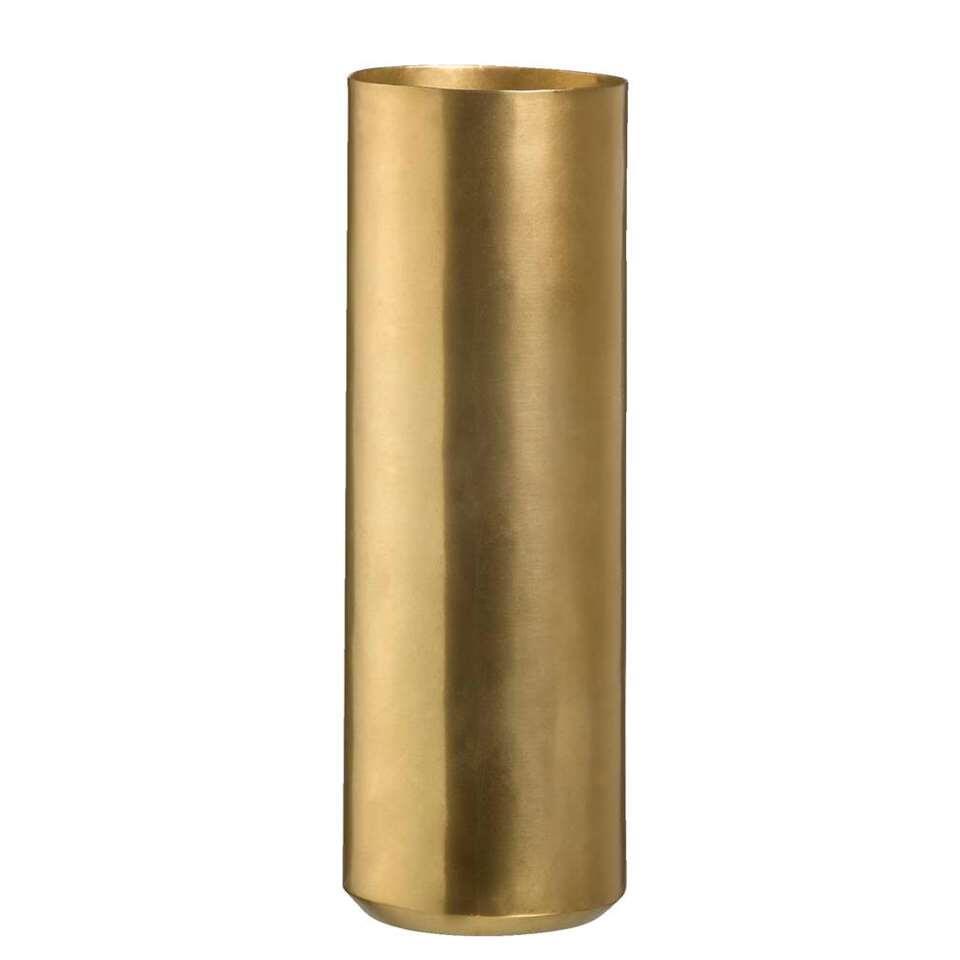 Vaas Bergamo – goudkleur – 29xØ10 cm – Leen Bakker