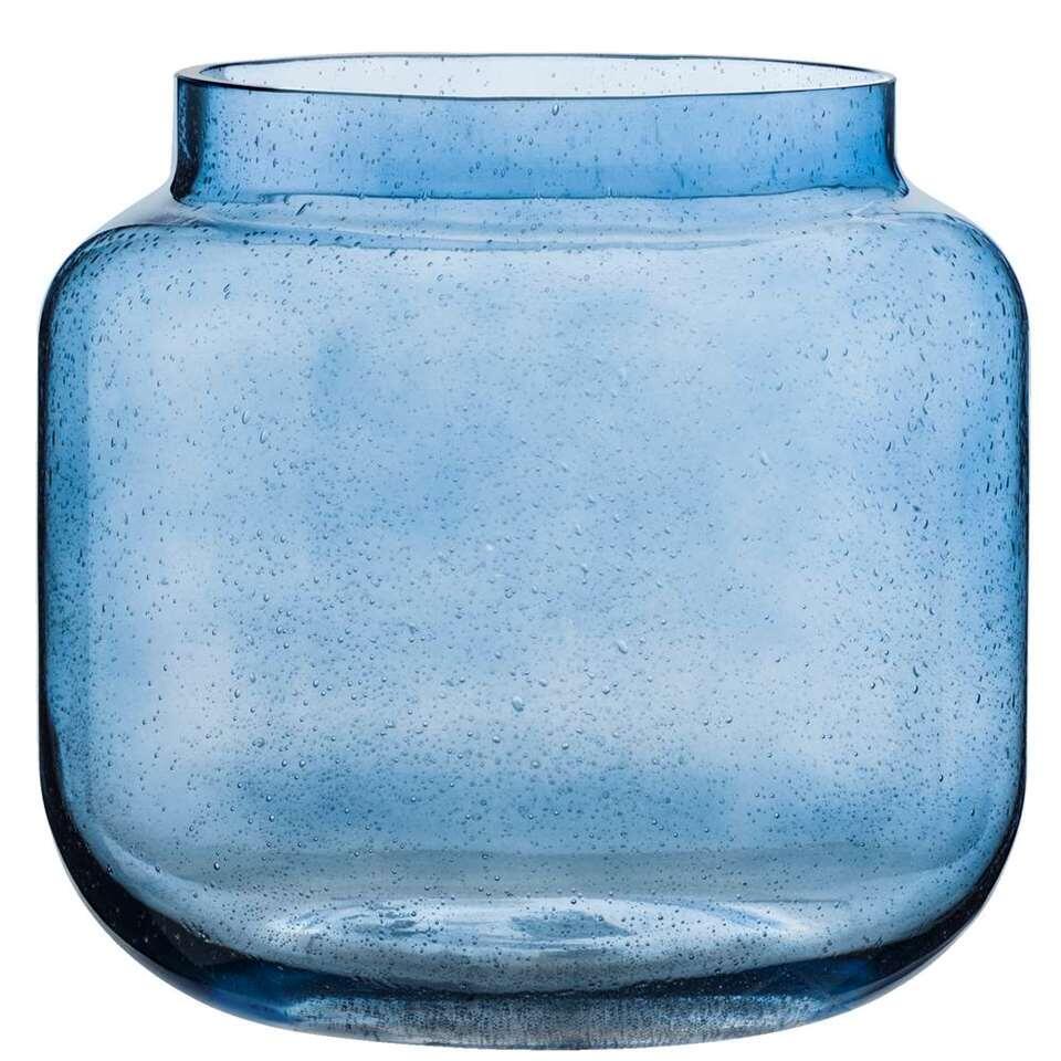 Vaas Ruben – blauw – 18xØ17 cm – Leen Bakker