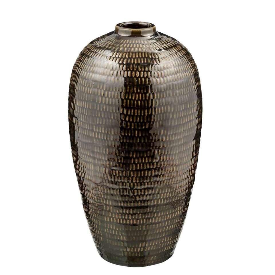 Vaas Freek - olijfgroen - 40x22 cm