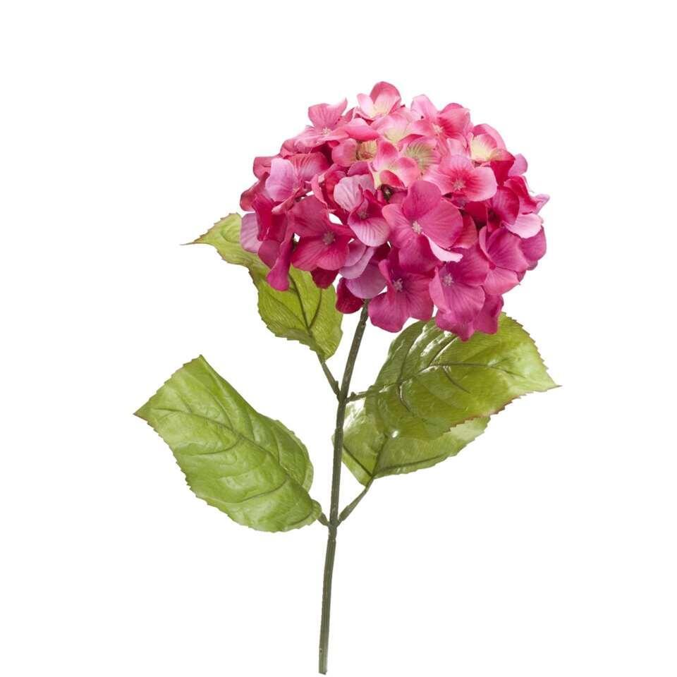 Kunstbloem Hortensia - roze - Leen Bakker
