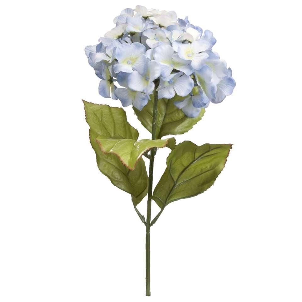 Kunstbloem Hortensia - blauw