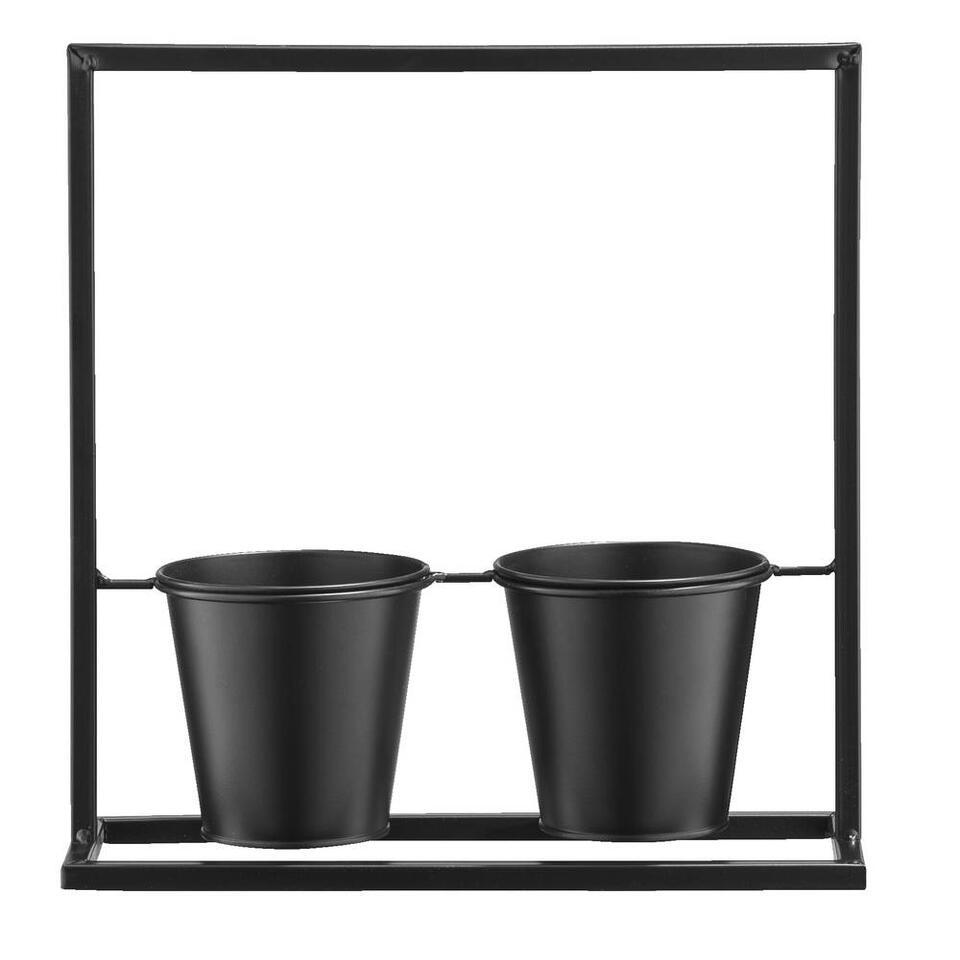 Plantenrek Mats – zwart – 31x30x11 cm – Leen Bakker