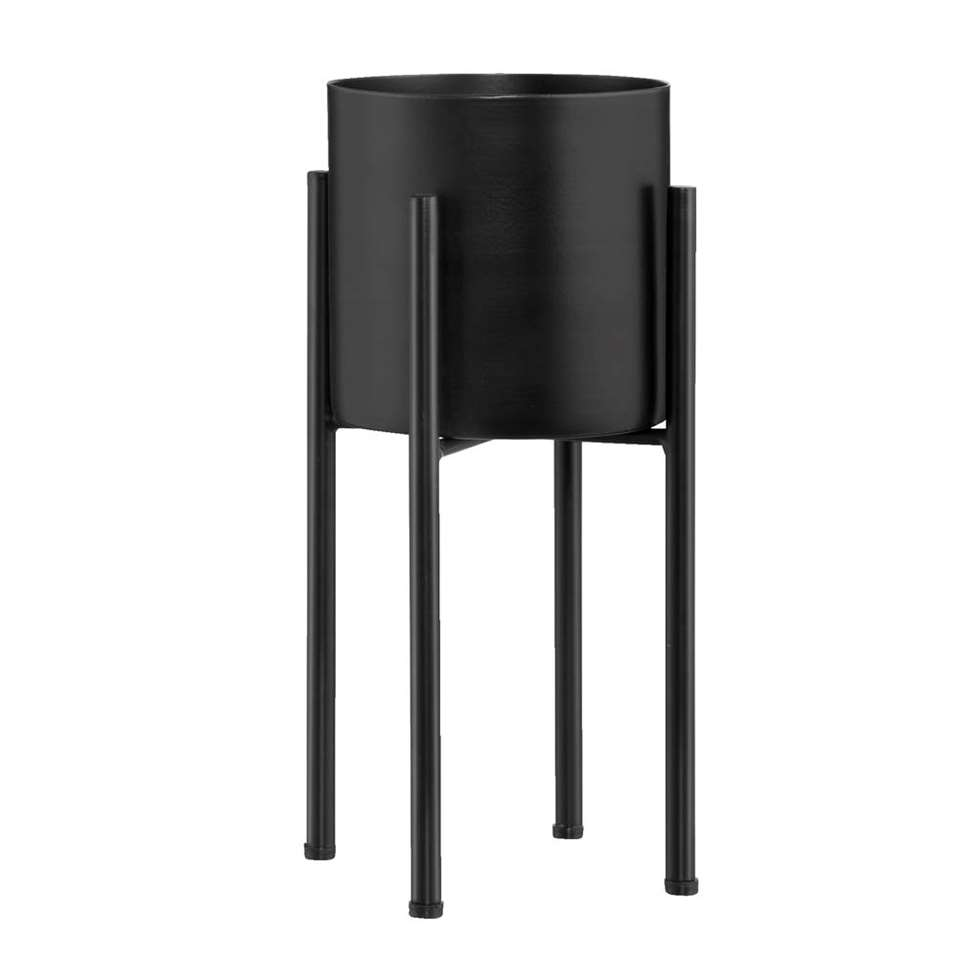 Bloempot Haydn - zwart - 30x14,5 cm