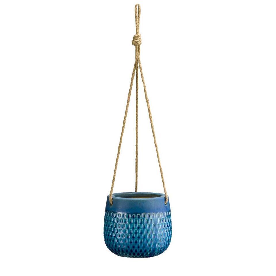 Bloempot Mart - blauw/groen - 13xØ15 cm - Leen Bakker