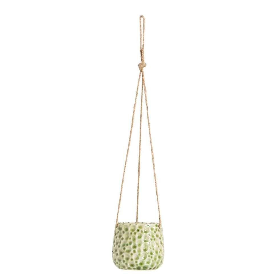 Bloempot hangend Paul - groen - 13,5xØ14,5 cm - Leen Bakker