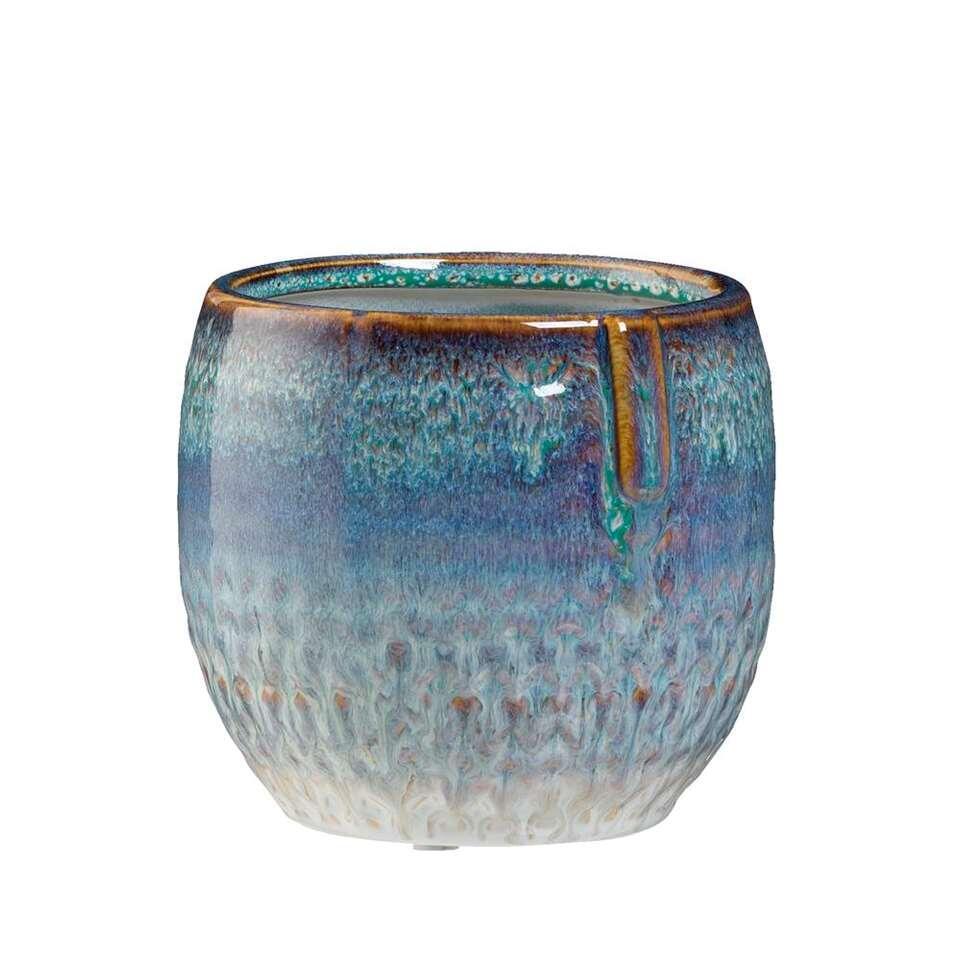 Bloempot Dean - blauw - 12,5xØ13,5 cm - Leen Bakker