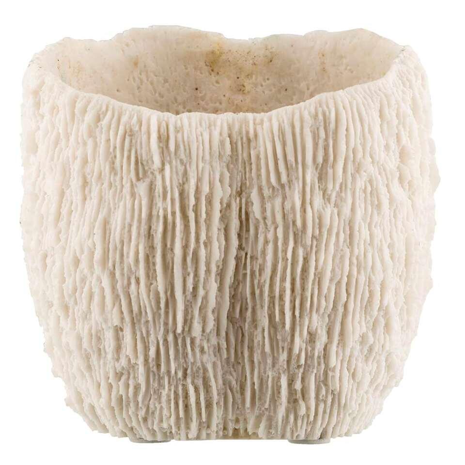 Bloempot Koraal - wit - 15x14x16 cm