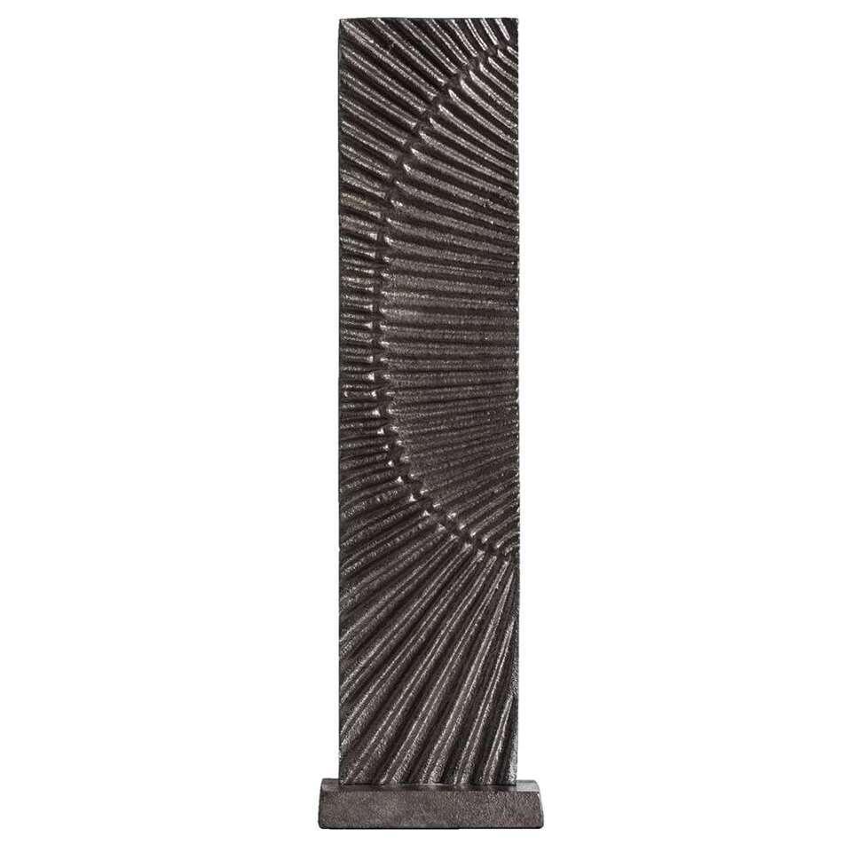 Beeld Tiemen – zinkkleur – 37x10x6,5 cm – Leen Bakker