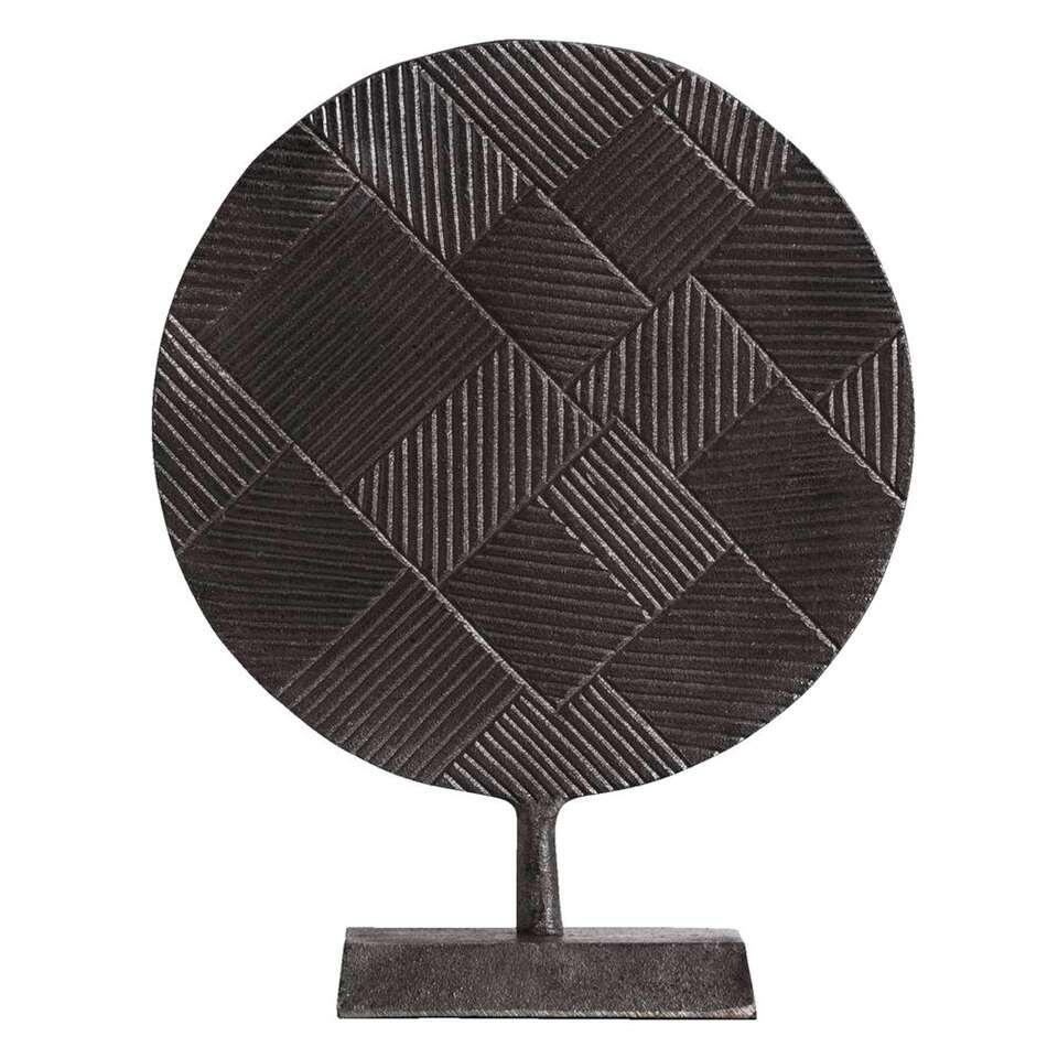 Beeld Tiemen – zinkkleur – 28x22x8 cm – Leen Bakker