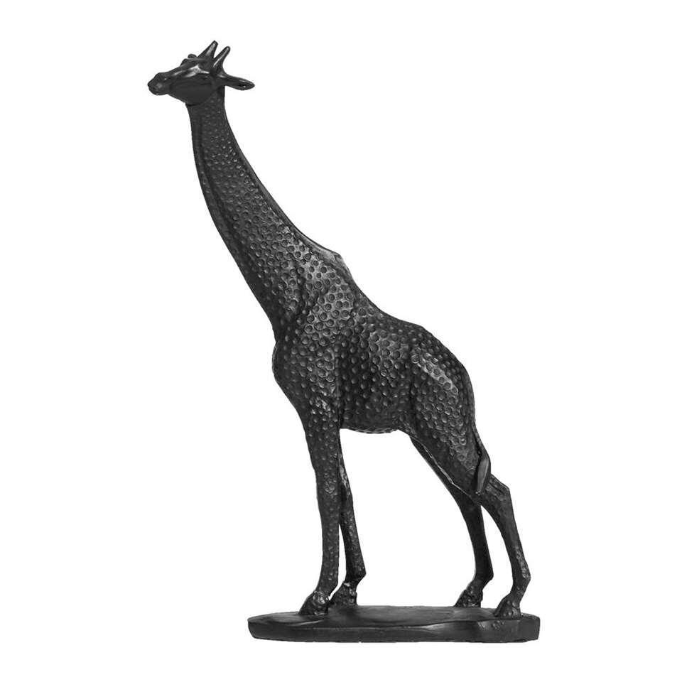 Beeld Giraf - zwart - 31,5x20x9 cm