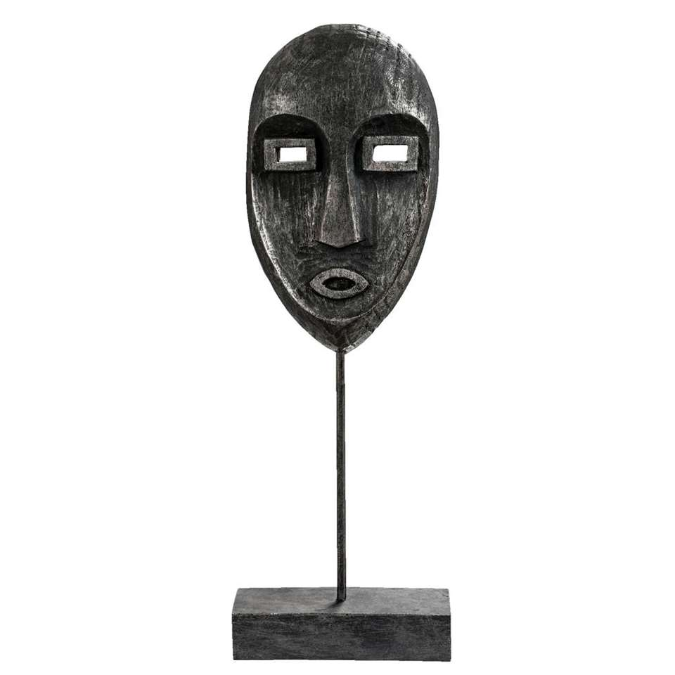Beeld Face - zwart - 40x14x8 cm