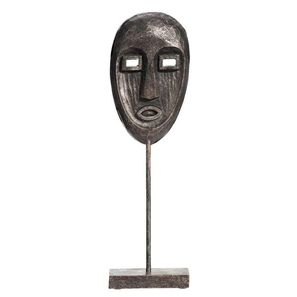 Beeld Face - zwart - 31,5x9,5x6 cm