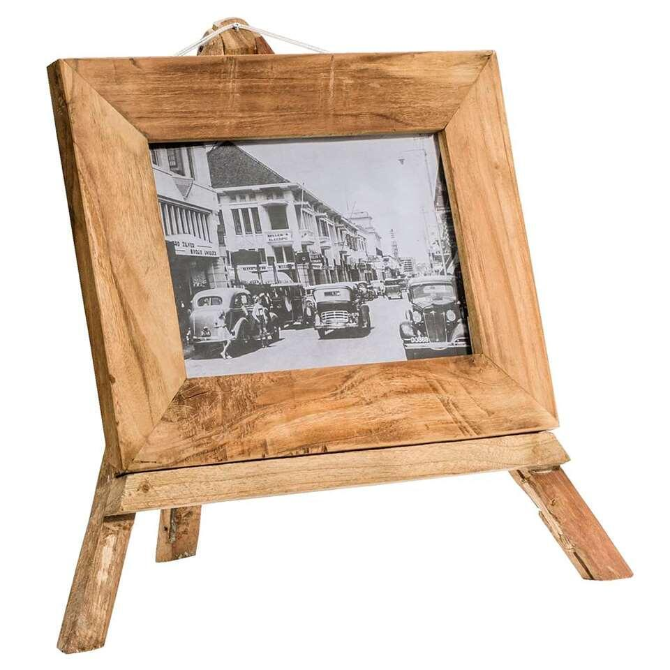 Fotolijst Andy - naturel recycled hout - 53x57x25 cm