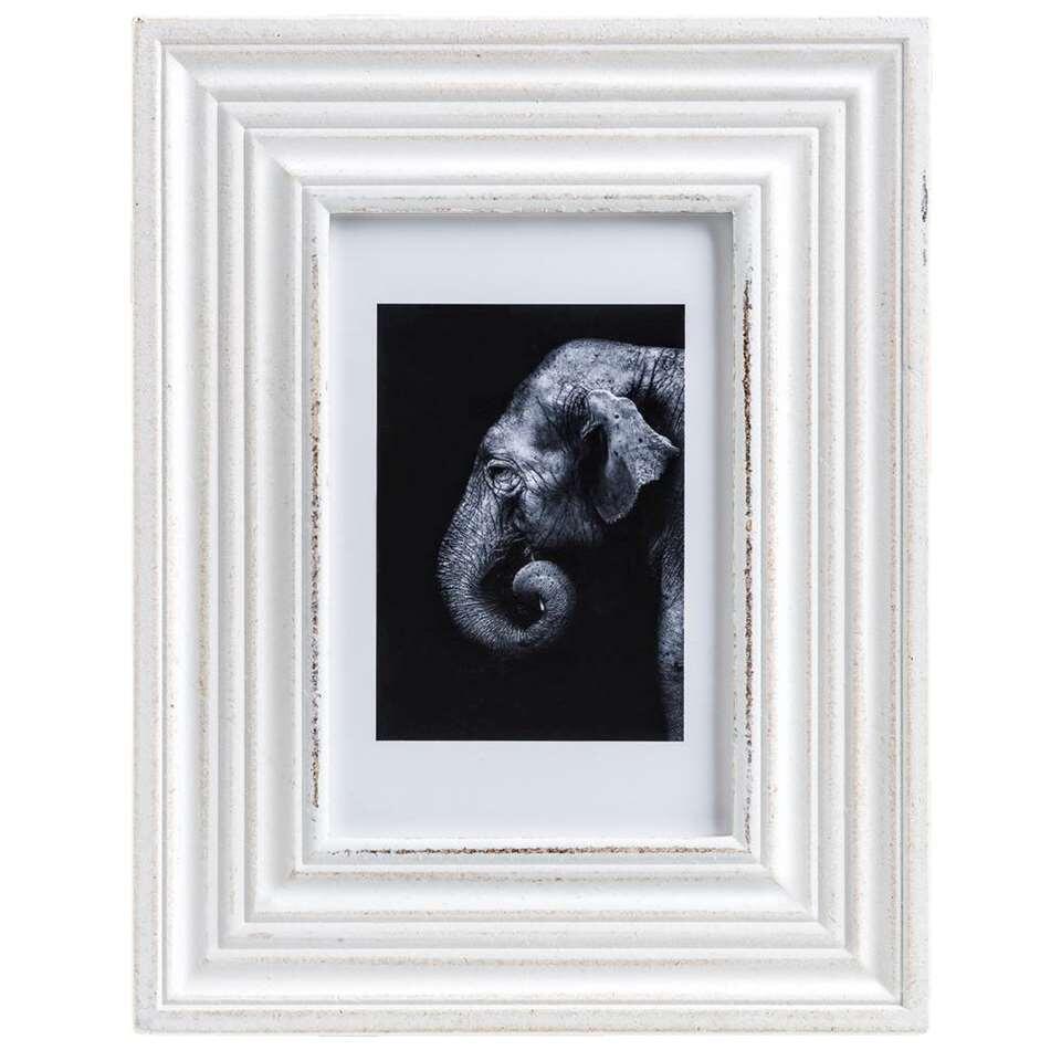 Fotolijst Cannes – whitewash – 10×15 cm – Leen Bakker