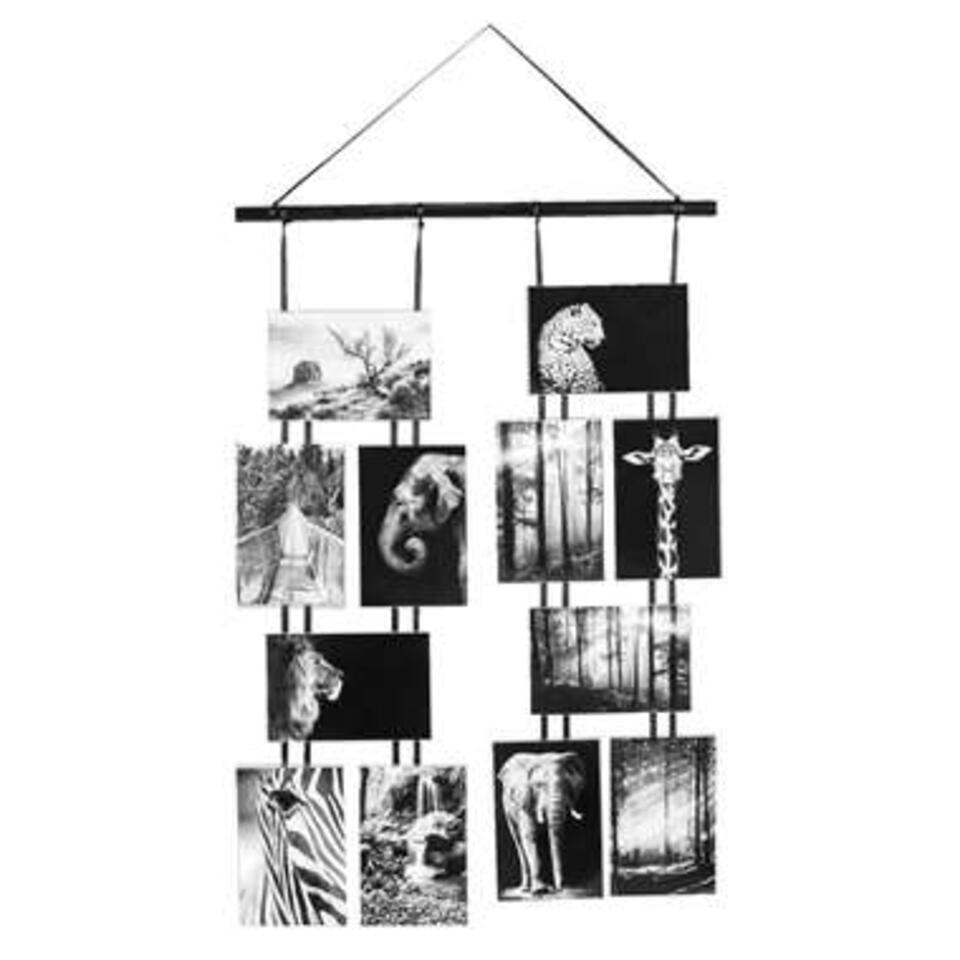 Collage fotolijst Gent – zwart – 80x45x1,5 cm – Leen Bakker