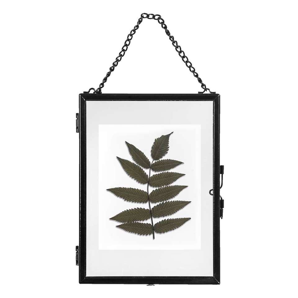 Fotolijst aan ketting Hanoi – zwart – 13×18 cm – Leen Bakker