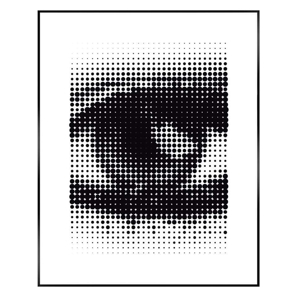 Reinders Schilderij Pop Art Oog - zwart/wit - 40x50 cm - Leen Bakker