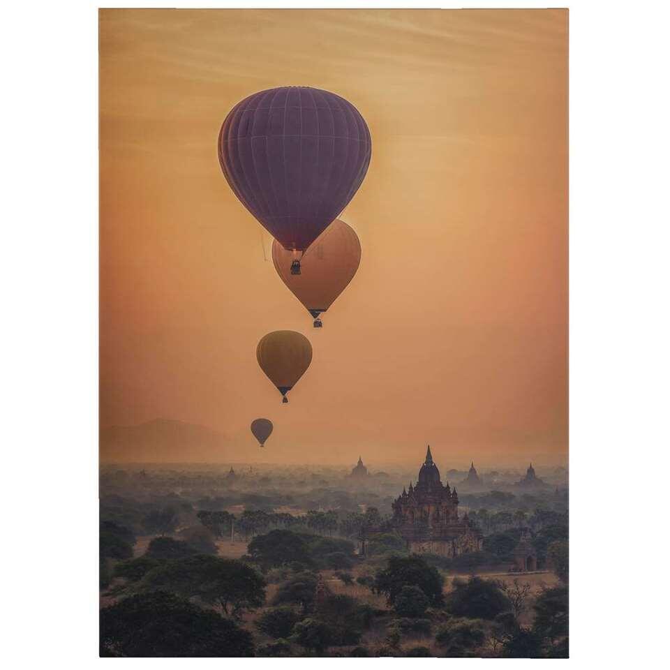 Canvas Luchtballon – beige – 50×70 cm – Leen Bakker