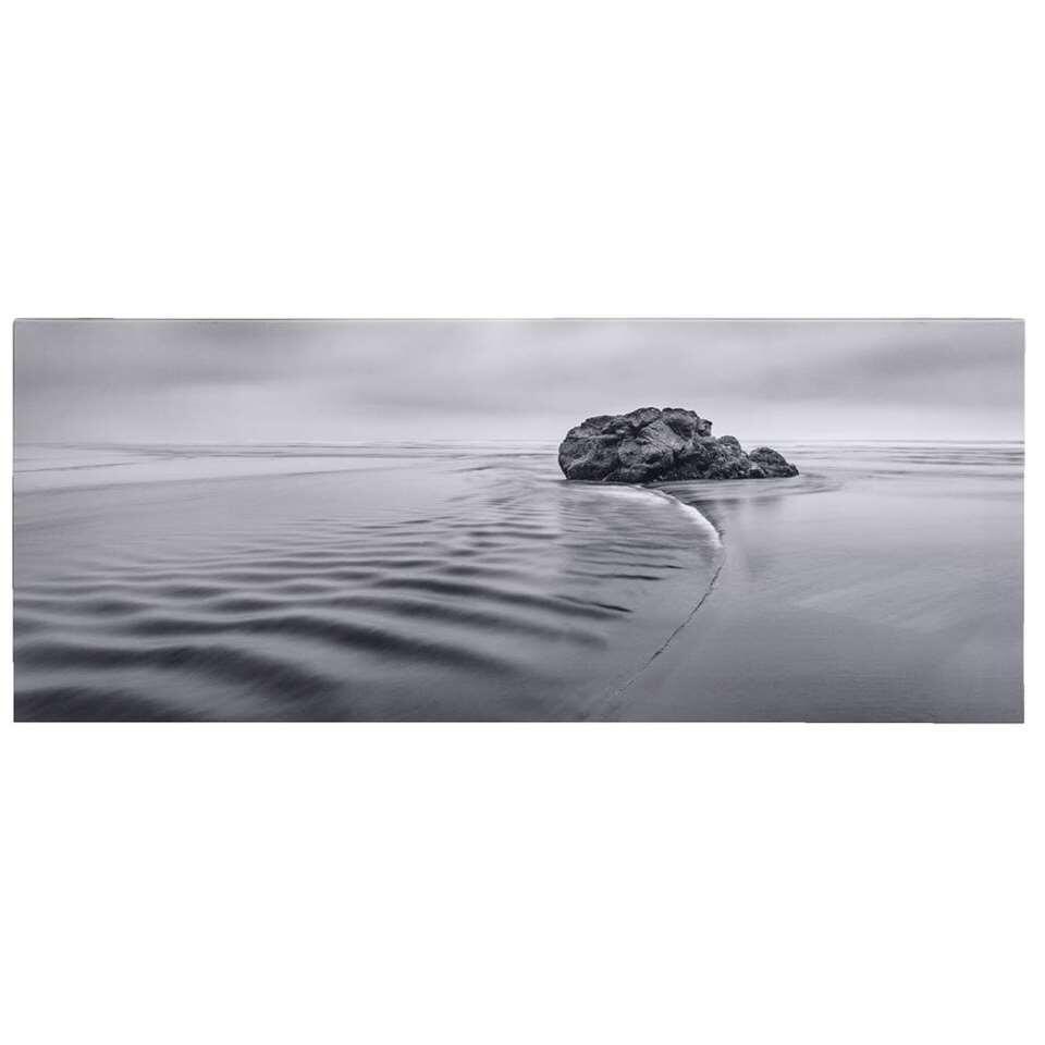 Canvas Meer - grijs - 40x100 cm - Leen Bakker