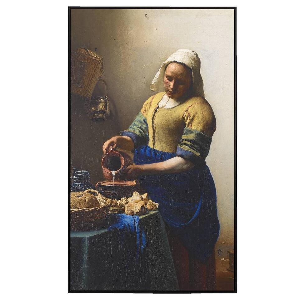Schilderij Het Melkmeisje - multikleur - 118x70 cm