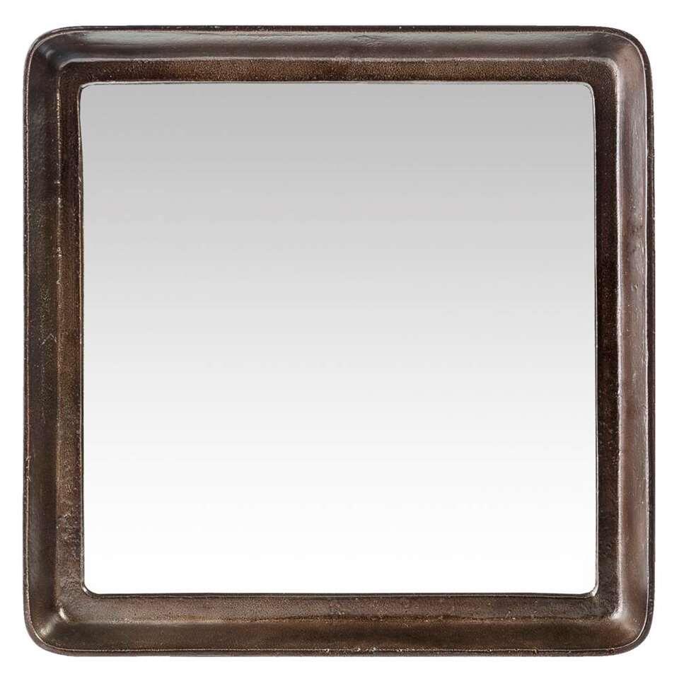Spiegel Rein – koperkleur – 40x40x6 cm – Leen Bakker