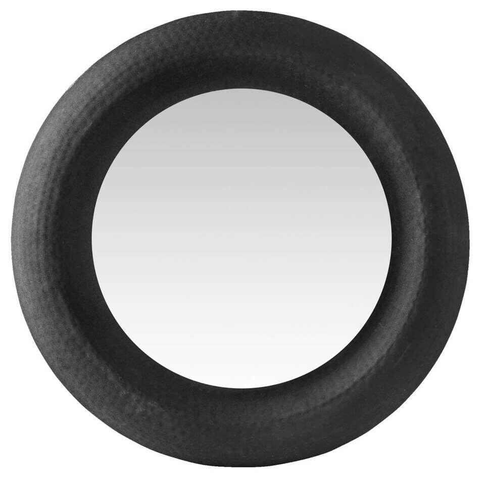 Spiegel Wout – zwart – Ø63 cm – Leen Bakker