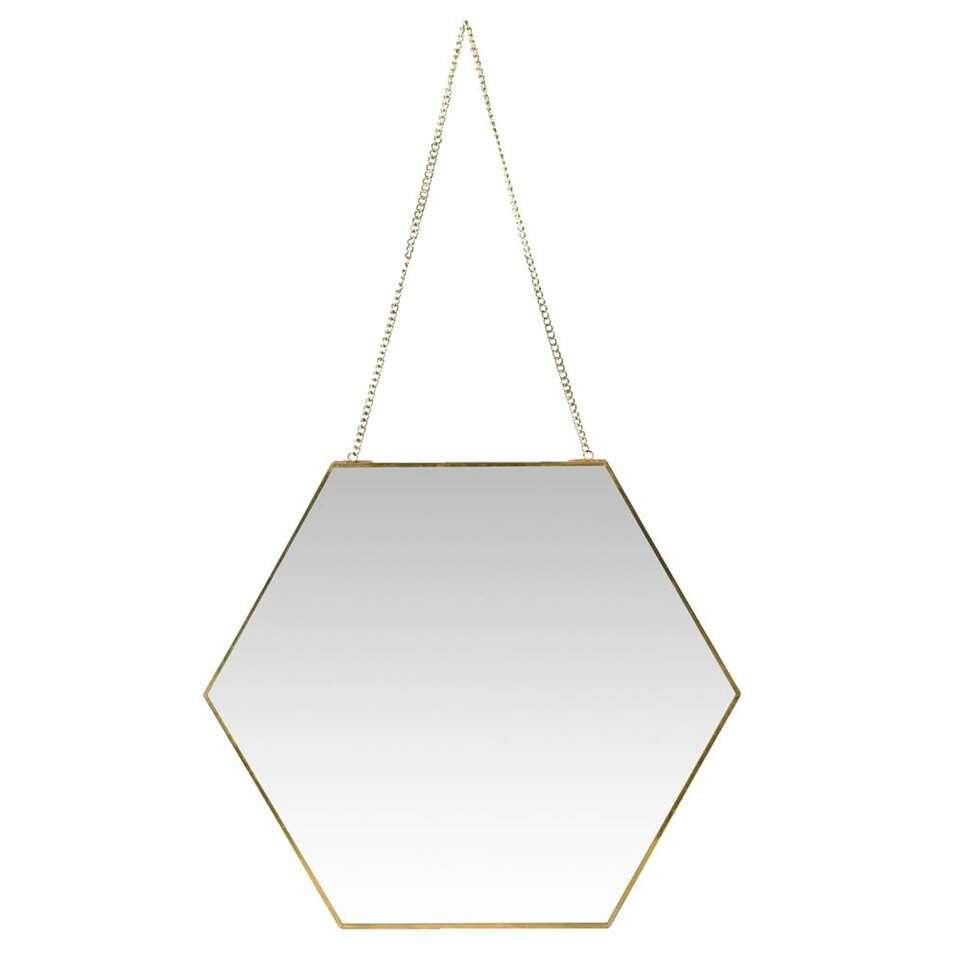 Spiegel Hein – messingkleur – 40x46x0,3 cm – Leen Bakker
