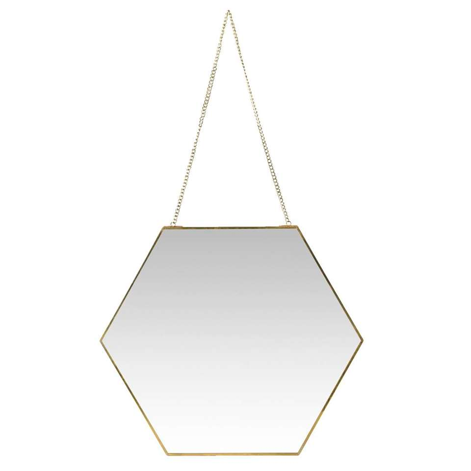 Spiegel Hein - messingkleur - 40x46x0,3 cm