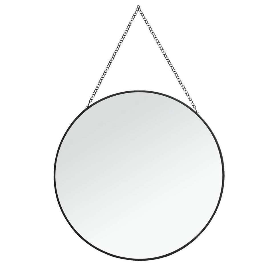 Spiegel Madrid - zwart - 29 cm
