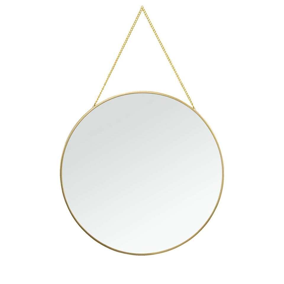 Spiegel Madrid – goud – 29 cm – Leen Bakker