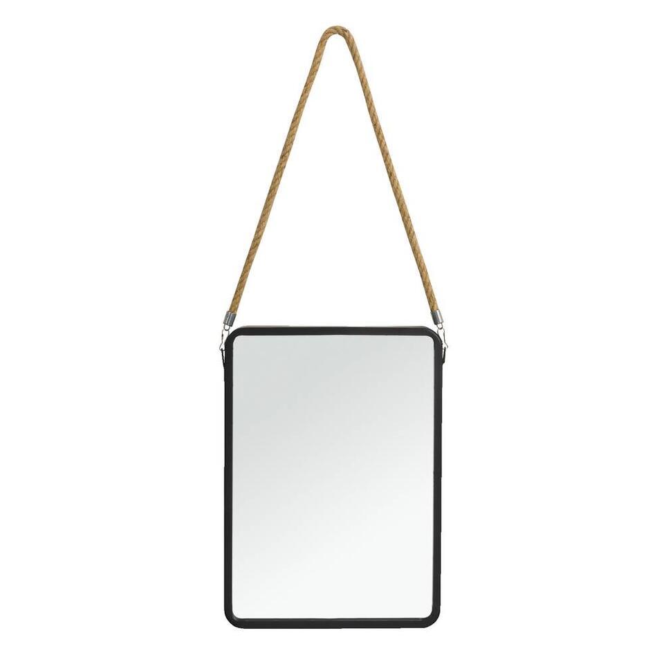 Spiegel Jonas - zwart - 40x25x3 cm