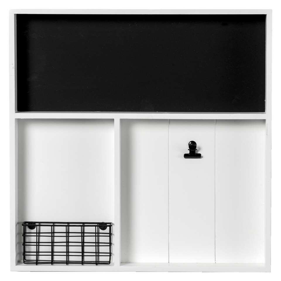 Wandorganizer Basket – wit – 45×45 cm – Leen Bakker